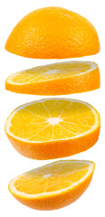 Orange Querschnitt