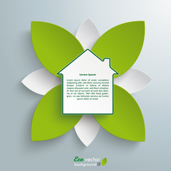 Eco House Green Flower