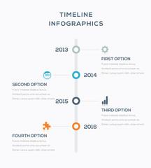 Timeline infographics for data visualization vector illustration