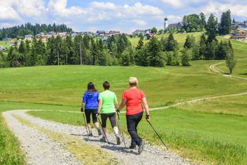Nordic Walking in der Gruppe