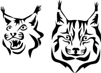 stylized lynx