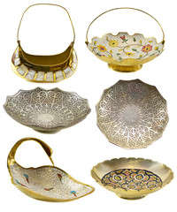 Set with Indian vases and plates