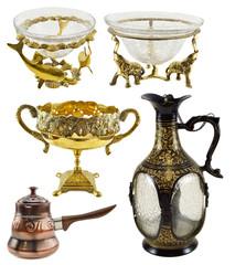 Indian decorated dishware set