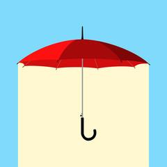 umbrella under rain