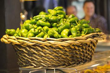 Padron peppers basket - Mercado de San Miguel, Madrid