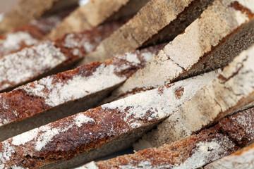 Brotscheiben aus der Nähe