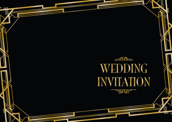 wedding invite gatsby