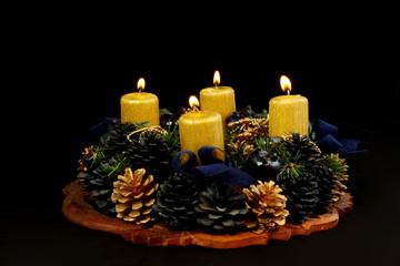 Lightning advent candles