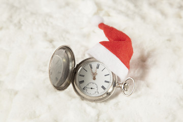 Watch with santa hat