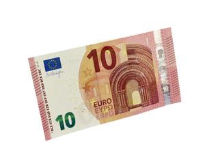10 Euro Geldschein 2014, vorne, stehend