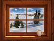 Leinwandbild Motiv Winter landscape