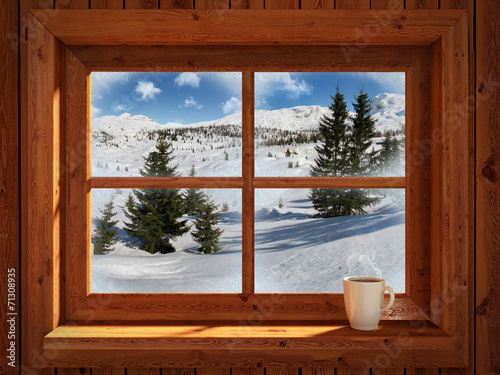 Winter landscape - 71308935