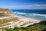 Beautiful Inviting Beach at Sandfly Bay, Otago Peinsula, New Zea