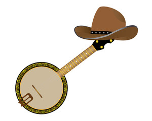 banjo and hat