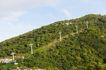 Cable Car Supports up Green Hill