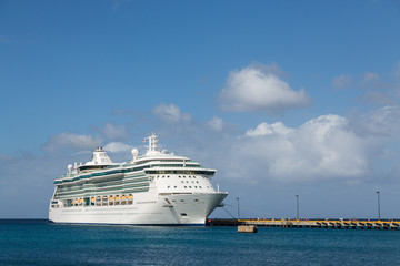 Luxur Cruise Ship at Pier on St Croix