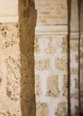 Old Brown Sandstone Columns