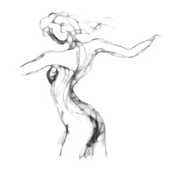 Sketch of woman torso