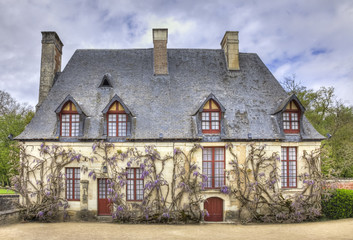 Chancellery from the Garden of Chenonceau Castle