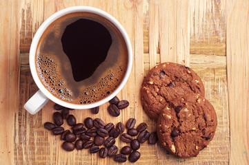 Coffee and chocolate cookies