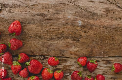 Fotobehang Vruchten Berries on the table