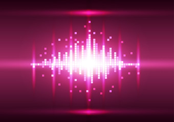 Abstract color pink pixel background, Vector illustration
