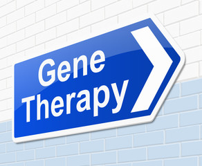 Gene therapy concept.