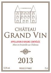 Étiquette bouteille de vin 2013