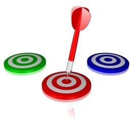 Ziel auswählen und treffen - Konzept Erfolg