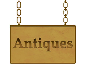 Antiques Signboard