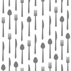 Fork Knife Spoon Texture Grey