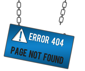 Page Not Found Signboard 994