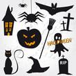 Zdjęcia na płótnie, fototapety, obrazy : Halloween Icon Set