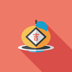 Chinese New Year flat icon with long shadow,eps10, Chinese lucky