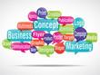 nuage de mots bulles : business logo concept marketing