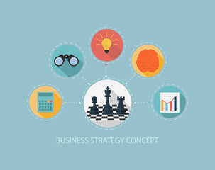 Business strategy concept on flat style design