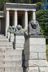 Bronze lions and steps, Cape Town, South Africa