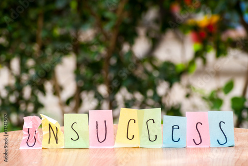 canvas print picture Sticky notes with motivation quote.