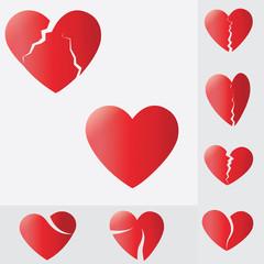 broken heart,Heart splitting and breaking apart ,love