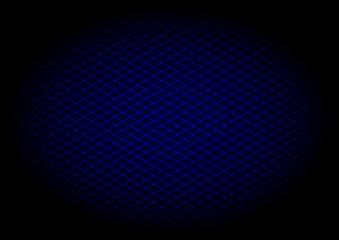 Blue laser grid diagonal in elipse