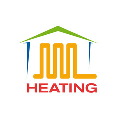 Vector logo domestic heating