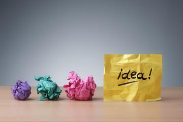 Evolving idea
