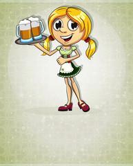 Oktoberfest  blonde girl
