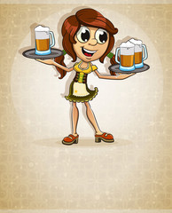 Oktoberfest  brown-haired girl