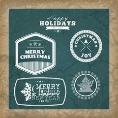 Set of Christmas background