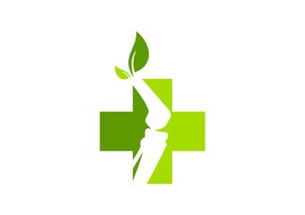 orthopedic logo, natural orthopaedic icon symbolVector