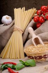 Ingredients for seasoning pasta