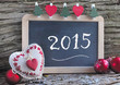 canvas print picture - Slate for new year 2015