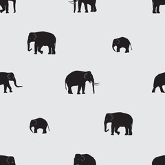 vector shadow elephants seamless pattern eps10