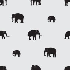 vector shadow elephants seamless pattern eps10